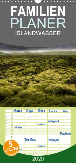 ISLANDWASSER – Familienplaner hoch (Wandkalender 2020 , 21 cm x 45 cm, hoch) von Schumacher,  Franz