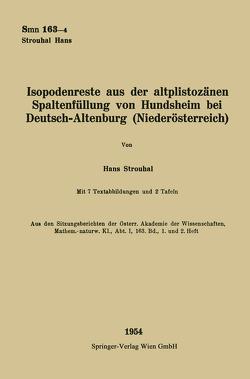 Isopodenreste aus der altplistozänen Spaltenfüllung von Hundsheim bei Deutsch-Altenburg (Niederösterreich) von Strouhal,  Hans