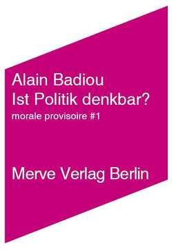 Ist Politik denkbar? von Badiou,  Alain, Ruda,  Frank, Völker,  Jan