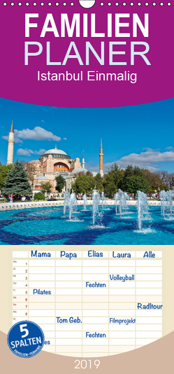 Istanbul Einmalig – Familienplaner hoch (Wandkalender 2019 , 21 cm x 45 cm, hoch) von Enders,  Borg