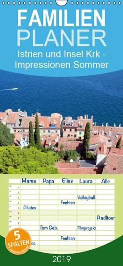 Istrien und Insel Krk – Impressionen eines kroatischen Sommers – Familienplaner hoch (Wandkalender 2019 , 21 cm x 45 cm, hoch) von Sucker,  Anja
