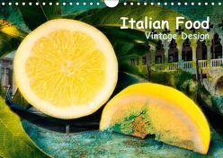 Italian Food – Vintage Design (Wandkalender 2019 DIN A4 quer)