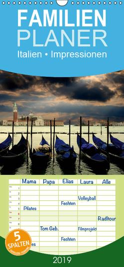 Italien • Impressionen – Familienplaner hoch (Wandkalender 2019 , 21 cm x 45 cm, hoch) von Stanzer,  Elisabeth
