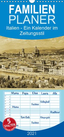 Italien – Familienplaner hoch (Wandkalender 2021 , 21 cm x 45 cm, hoch) von Kirsch,  Gunter