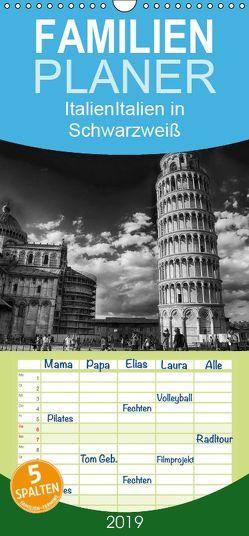 Italien in Schwarzweiß – Familienplaner hoch (Wandkalender 2019 , 21 cm x 45 cm, hoch) von Dimmel,  Sergej