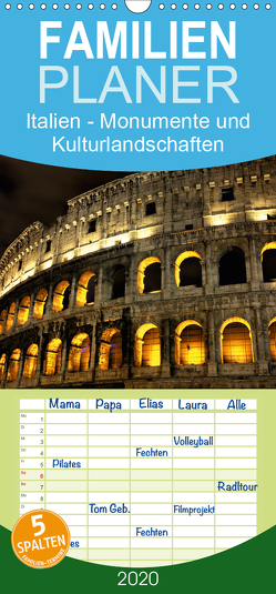 Italien – Monumente und Kulturlandschaften – Familienplaner hoch (Wandkalender 2020 , 21 cm x 45 cm, hoch) von Schonnop,  Juergen