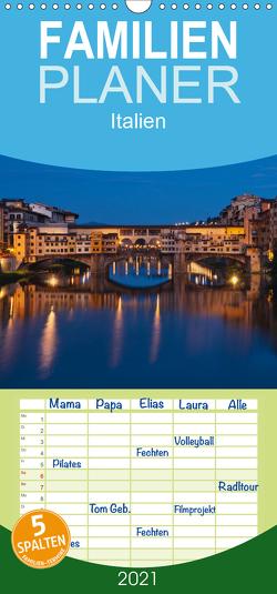 Italien, Terminplaner – Familienplaner hoch (Wandkalender 2021 , 21 cm x 45 cm, hoch) von Kirsch,  Gunter