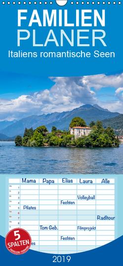Italiens romantische Seen – Familienplaner hoch (Wandkalender 2019 , 21 cm x 45 cm, hoch) von Di Chito,  Ursula