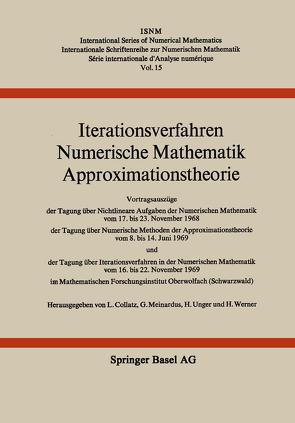 Iterationsverfahren Numerische Mathematik Approximationstheorie von Collatz, MEINARDUS, Unger, Werner
