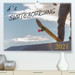 it's SKATEBOARDING (Premium, hochwertiger DIN A2 Wandkalender 2021, Kunstdruck in Hochglanz) von Wenk,  Michael