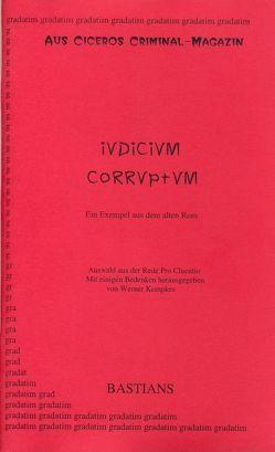 Iudicium corruptum von Cicero, Kempkes,  Werner