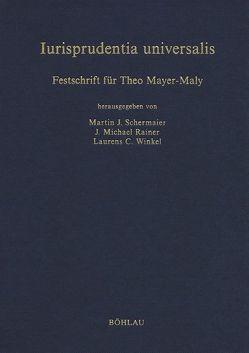 Iurisprudentia universalis von Schermaier,  Martin