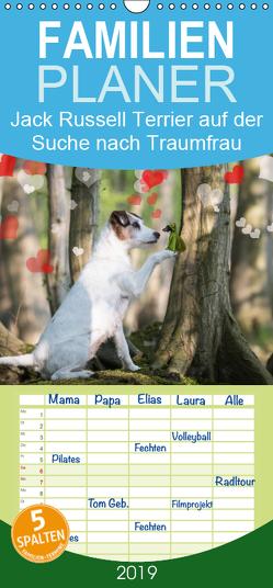 Jack Russell Terrier auf Suche nach der Traumfrau – Familienplaner hoch (Wandkalender 2019 <strong>21 cm x 45 cm</strong> hoch) von S. + J. Schröder,  AWS, Schroeder,  Susanne, Werbeagentur