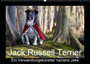 Jack Russell Terrier…..Ein Verwandlungskünstler namens Jake (Wandkalender 2021 DIN A2 quer) von S. + J. Schröder,  AWS, Schroeder,  Susanne, Werbeagentur
