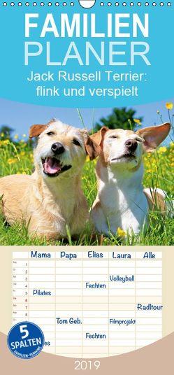 Jack Russell Terrier: flink und verspielt – Familienplaner hoch (Wandkalender 2019 , 21 cm x 45 cm, hoch) von CALVENDO