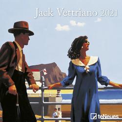 Jack Vettriano 2021 – Wand-Kalender – Mini-Broschürenkalender – 17,5×17,5 – 17,5×35 geöffnet – Kunst-Kalender von Vettriano,  Jack