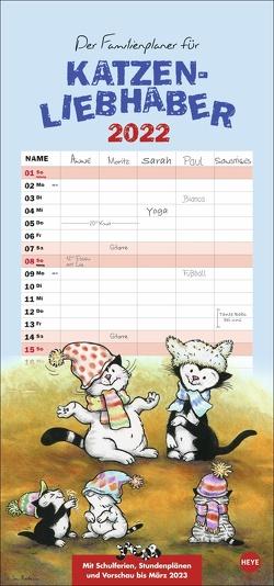 Jacob Familienplaner für Katzenliebhaber Kalender 2022 von Hartmann,  Sven, Heye