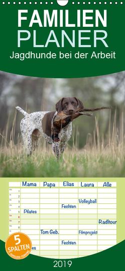 Jagdhunde bei der Arbeit – Familienplaner hoch (Wandkalender 2019 , 21 cm x 45 cm, hoch) von Brandt,  Tanja