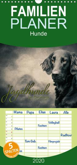 Jagdhunde im Portrait – Familienplaner hoch (Wandkalender 2020 , 21 cm x 45 cm, hoch) von Hollstein,  Alexandra