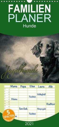 Jagdhunde im Portrait – Familienplaner hoch (Wandkalender 2021 , 21 cm x 45 cm, hoch) von Hollstein,  Alexandra