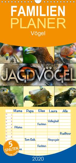 Jagdvögel – Familienplaner hoch (Wandkalender 2020 , 21 cm x 45 cm, hoch) von Bleicher,  Renate