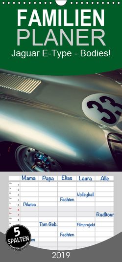 Jaguar E-Type – Bodies – Familienplaner hoch (Wandkalender 2019 , 21 cm x 45 cm, hoch) von Hinrichs,  Johann