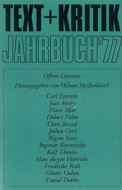 Jahrbuch '77 von Heißenbüttel,  Helmut