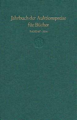 Jahrbuch der Auktionspreise für Bücher, Handschriften und Autographen (Buch + DVD + Online)