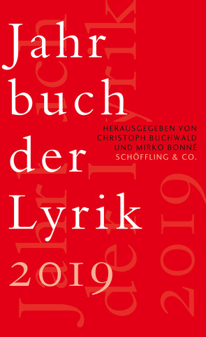 Jahrbuch der Lyrik 2019 von Bonné,  Mirko, Buchwald,  Christoph