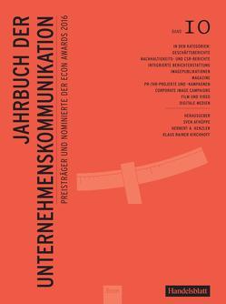 Jahrbuch der Unternehmenskommunikation 2016 von Henzler,  Herbert, Kirchhoff,  Klaus Rainer