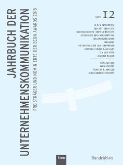 Jahrbuch der Unternehmenskommunikation 2018 von Afhüppe,  Jens, Henzler,  Herbert, Kirchhoff,  Klaus Rainer