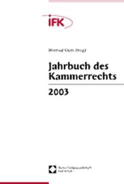 Jahrbuch des Kammerrechts 2003 von Kluth,  Winfried