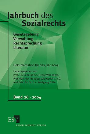 Jahrbuch des Sozialrechts / Jahrbuch des Sozialrechts, Band 26 von Gitter,  Wolfgang, Wannagat,  Georg
