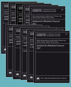 Jahrbuch für öffentliche Finanzen 2009-2017 von Junkernheinrich,  Martin, Korioth,  Stefan, Lenk,  Thomas, Scheller,  Henrik, Woisin,  Matthias