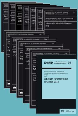 Jahrbuch für öffentliche Finanzen 2009-2019 von Junkernheinrich,  Martin, Korioth,  Stefan, Lenk,  Thomas, Scheller,  Henrik, Woisin,  Matthias