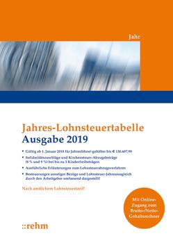 Jahres-Lohnsteuertabelle 2019
