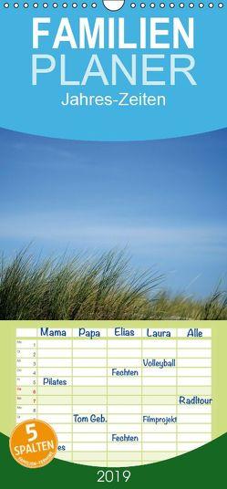 Jahres-Zeiten – Familienplaner hoch (Wandkalender 2019 , 21 cm x 45 cm, hoch) von Hultsch,  Heike