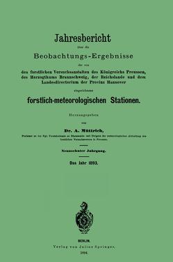Jahresbericht über die Beobachtungs – Ergebnisse von Müttrich,  A.