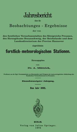 Jahresbericht über die Beobachtungs-Ergebnisse von Müttrich,  A.
