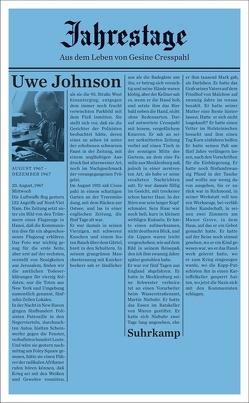 Jahrestage 1 von Johnson,  Uwe