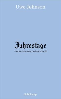 Jahrestage 1–4 von Johnson,  Uwe