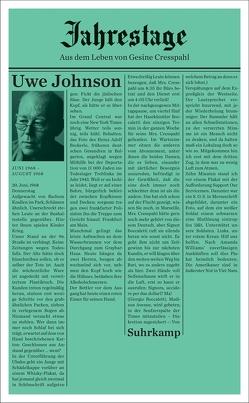 Jahrestage 4 von Johnson,  Uwe