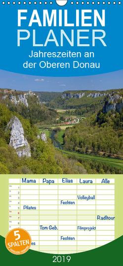 JahresZeiten an der Oberen Donau – Familienplaner hoch (Wandkalender 2019 , 21 cm x 45 cm, hoch) von Beck,  Andreas