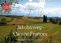 Jakobsweg – Camino Frances (Wandkalender 2018 DIN A4 quer) von Luef,  Alexandra