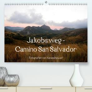 Jakobsweg – Camino San Salvador (Premium, hochwertiger DIN A2 Wandkalender 2021, Kunstdruck in Hochglanz) von Luef,  Alexandra