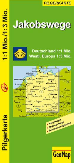Jakobswege Deutschland und westliches Europa
