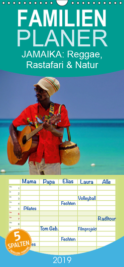 JAMAIKA Reggae, Rastafari und Natur. – Familienplaner hoch (Wandkalender 2019 , 21 cm x 45 cm, hoch) von M.Polok