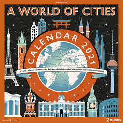 James Brown A World of Cities 2021 – Wand-Kalender – Broschüren- Kalender – 30×30 – 30×60 geöffnet von Brown,  James