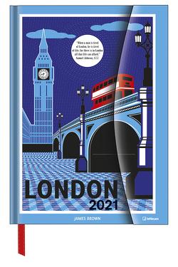 James Brown in London 2021 – Diary – Buchkalender – Taschenkalender – Kunstkalender – 16×22 von Brown,  James