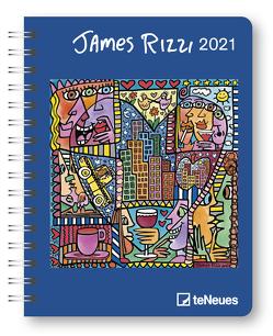 James Rizzi 2021 – Diary – Buchkalender – Taschenkalender – Kunstkalender – 16,5×21,6 von Rizzi,  James